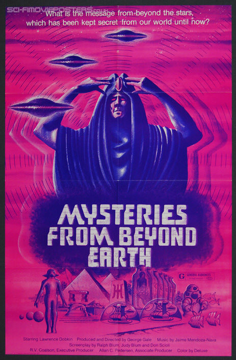 Mysteries from Beyond Earth (1975) - Original US One Sheet Movie Poster