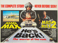 Mad Max (1979) + Mad Max 2 (1981) - Double Bill - Original British Quad Movie Poster
