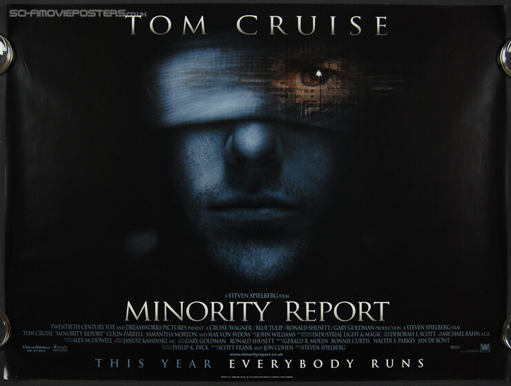 Minority Report (2002) - Original British Quad Movie Poster