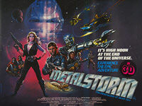Metalstorm: The Destruction of Jared-Syn (1983) 'In 3D' - Original British Quad Movie Poster