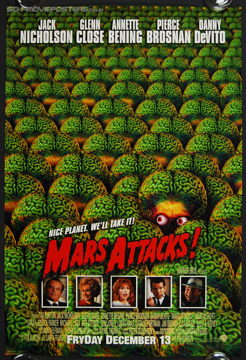 Mars Attacks! (1996) Advance - Original US One Sheet Movie Poster