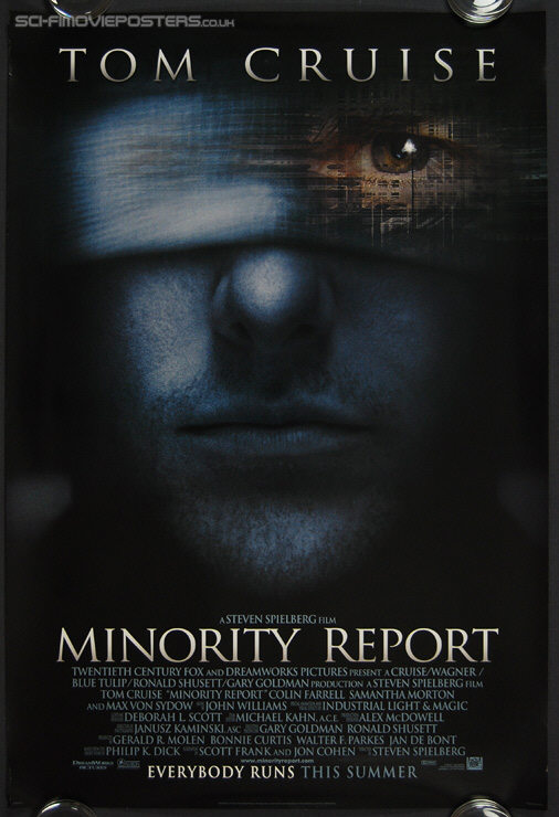 Minority Report (2002) - Original US One Sheet Movie Poster