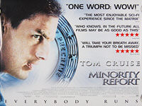 Minority Report (2002) 'Quotes' - Original British Quad Movie Poster