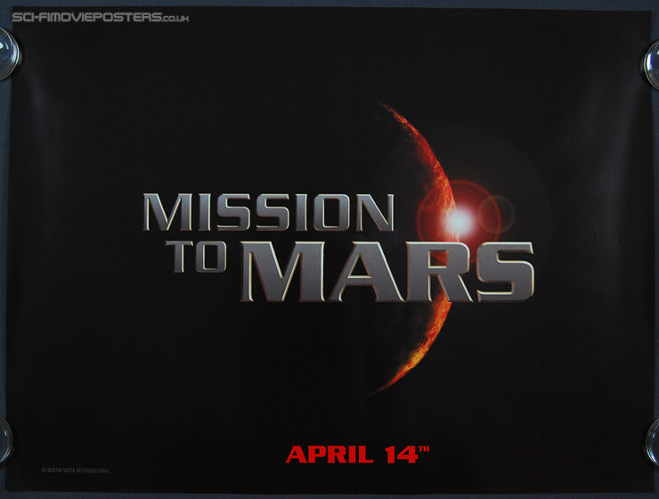 Mission to Mars (2000) Advance - Original British Quad Movie Poster