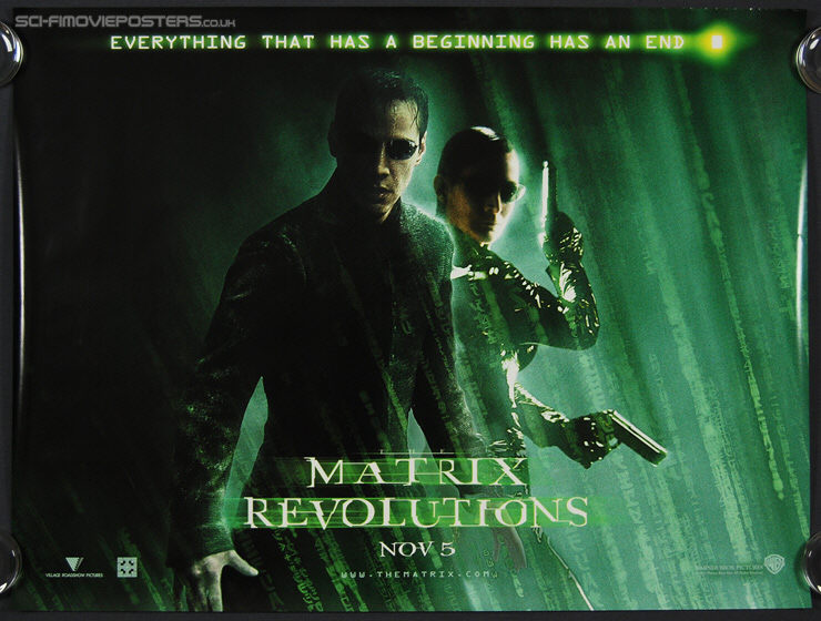 Matrix Revolutions, The (2003) - Original British Quad Movie Poster