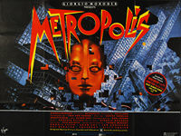 Metropolis (1927) 1984 Re-release - Original British Quad Movie Poster