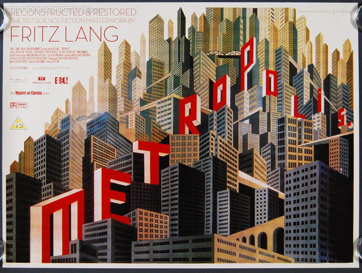 Metropolis (1927) Re-release 2010 - Original British Quad Movie Poster