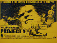 Project X (1968) - Original British Quad Movie Poster