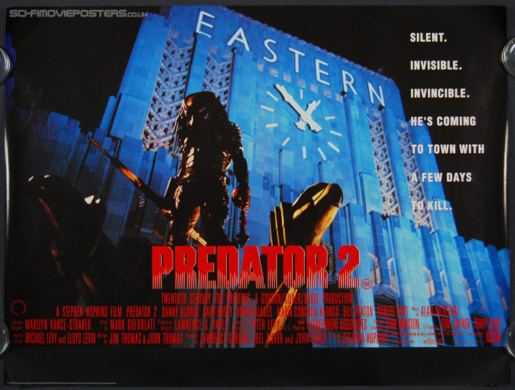 Predator 2 (1990) - Original British Quad Movie Poster