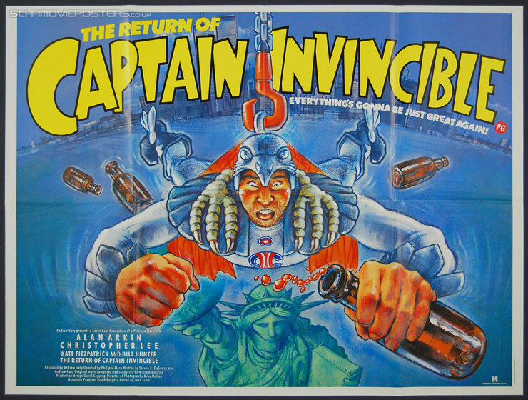 Return of Captain Invincible, The (1983) - Original British Quad Movie Poster