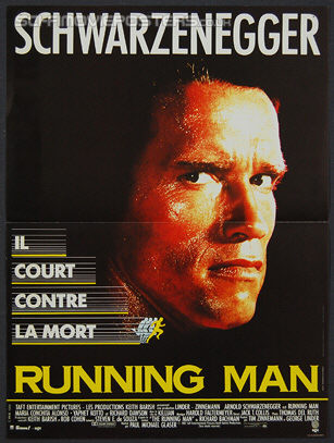 Running Man, The (1987) - Original French Movie Poster
