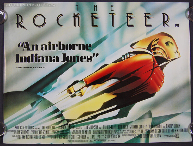 Rocketeer, The (1991) - Original British Quad Movie Poster