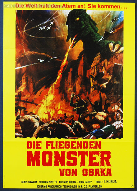 Radon: Sora no daikaijû (1956) Re-release 1970's - Original German Movie Poster
