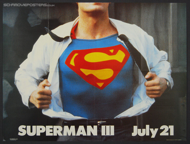Superman III (1983) Advance - Original British Quad Movie Poster