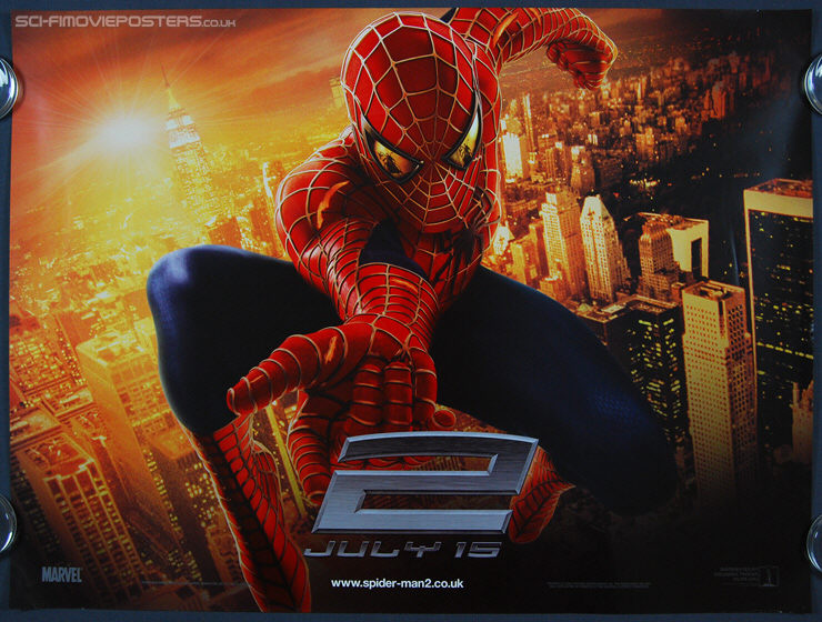Spider-Man 2 (2004) - Original British Quad Movie Poster