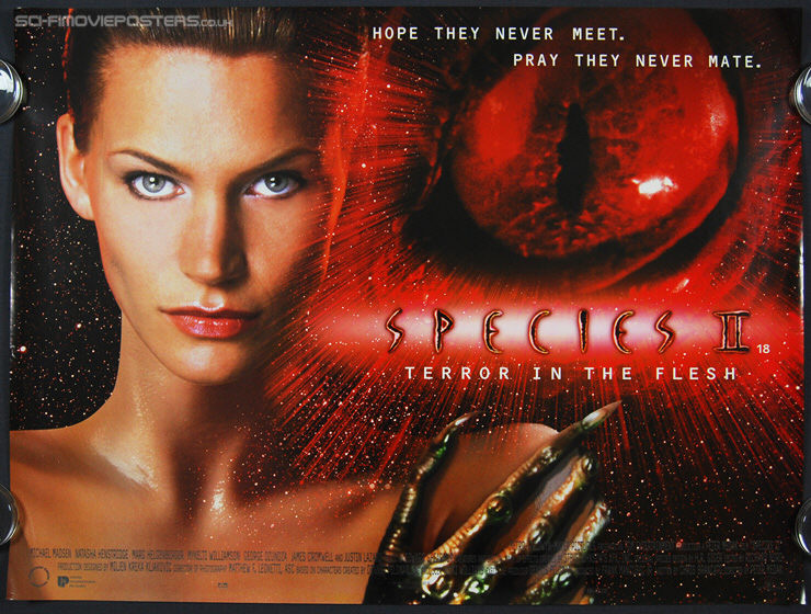 Species II (1998) - Original British Quad Movie Poster