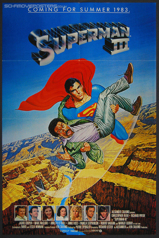 Superman III (1983) Advance - Original US One Sheet Movie Poster