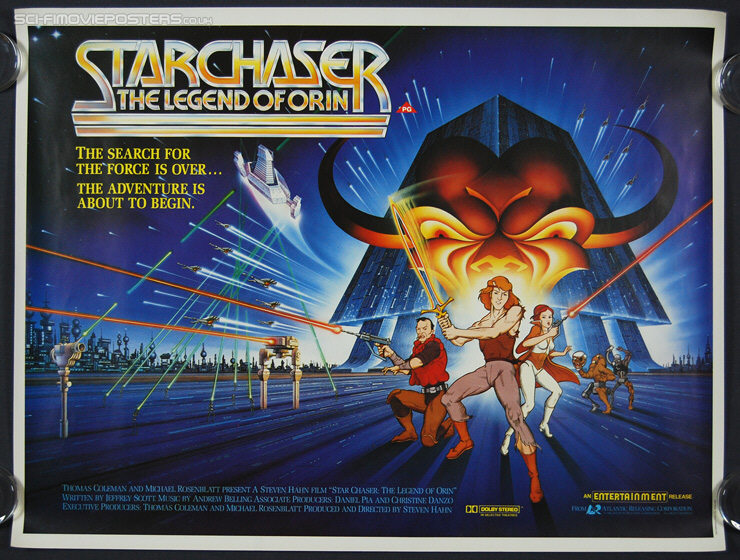 Starchaser: The Legend of Orin (1985) - Original British Quad Movie Poster
