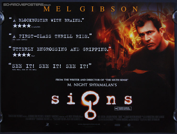 Signs (2002) 'Quotes' - Original British Quad Movie Poster