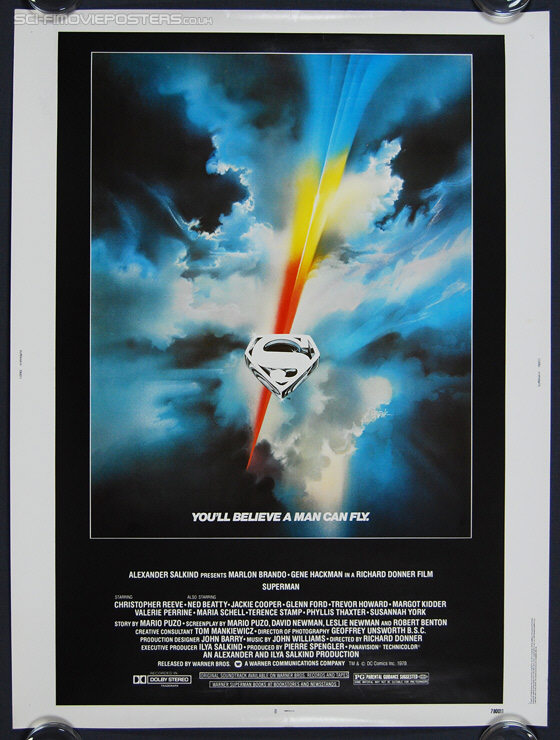 Superman (1978) - Original US One Sheet Movie Poster