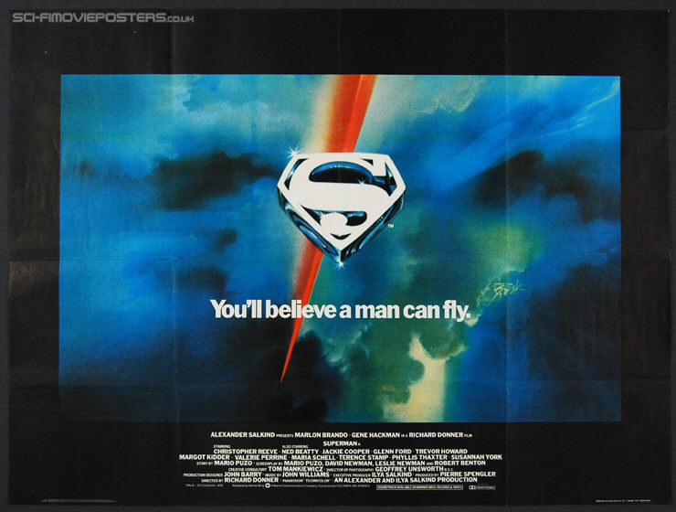 Superman (1978) Advance - Original British Quad Movie Poster