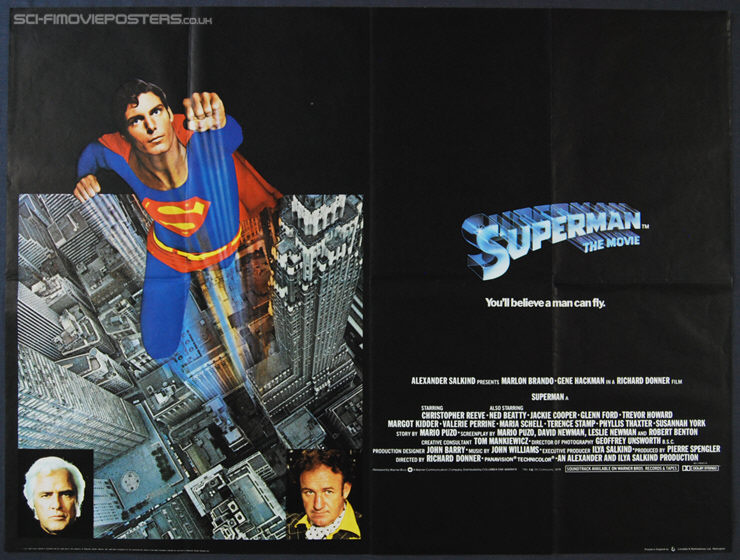 Superman (1978) - Original British Quad Movie Poster