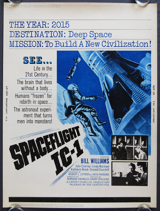 Spaceflight IC-1: An Adventure in Space (1965) - Original US One Sheet Poster
