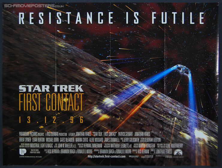 Star Trek: First Contact (1996) - Original British Quad Movie Poster