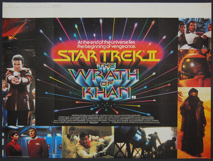 Star Trek II: The Wrath of Khan (1982) - Original British Quad Movie Poster