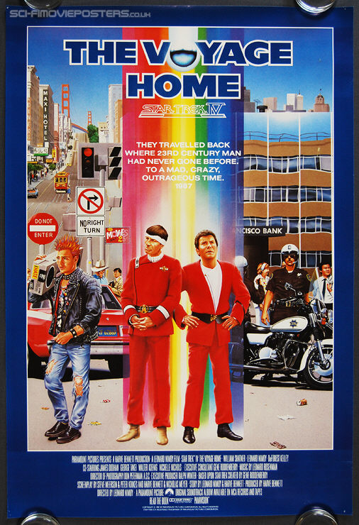Star Trek IV: The Voyage Home (1986) San Francisco - Original US One Sheet Movie Poster