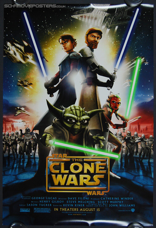 Star Wars: The Clone Wars (2008) - Original US One Sheet Movie Poster