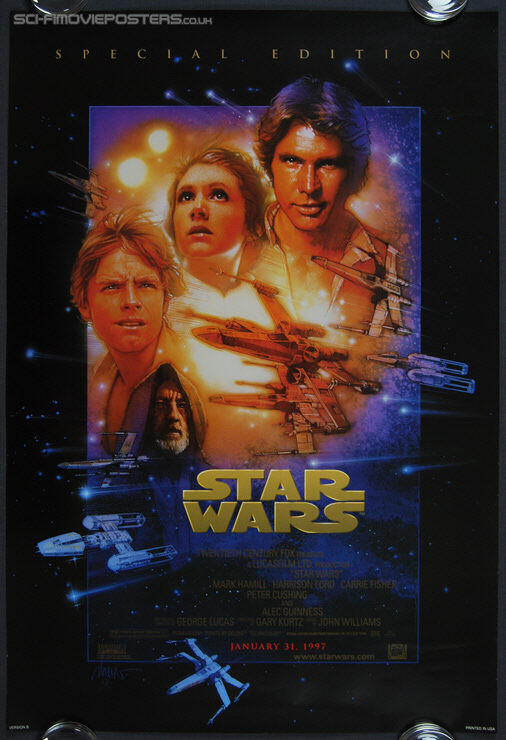 Star Wars (1977) Special Edition 1997 Version 'B' - Original US One Sheet Movie Poster