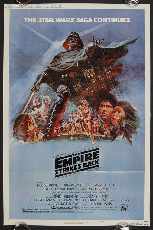 Star Wars: The Empire Strikes Back (1980) Style 'B' - Original US One Sheet Movie Poster