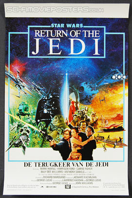 Star Wars: Return of the Jedi (1983) - Original Belgian Movie Poster