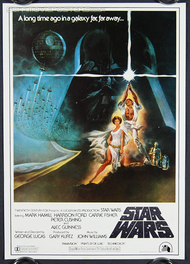 Star Wars (1977) Tom Jung 1982 - Original Japanese Hansai B2 Movie Poster