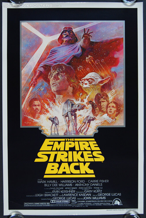 Star Wars: The Empire Strikes Back (1980) Re-release 1981 - Original US One Sheet Movie Poster