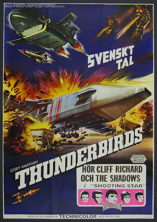 Thunderbirds Are Go (1966) - Original Swedish Movie Poster