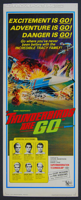 Thunderbirds Are Go (1966) - Original US Insert Movie Poster