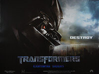 Transformers (2007) 'Destroy' - Original British Quad Movie Poster