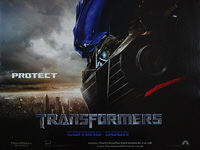 Transformers (2007) 'Protect' - Original British Quad Movie Poster