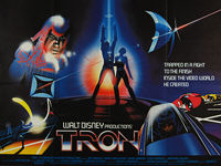 Tron (1982) - Original British Quad Movie Poster