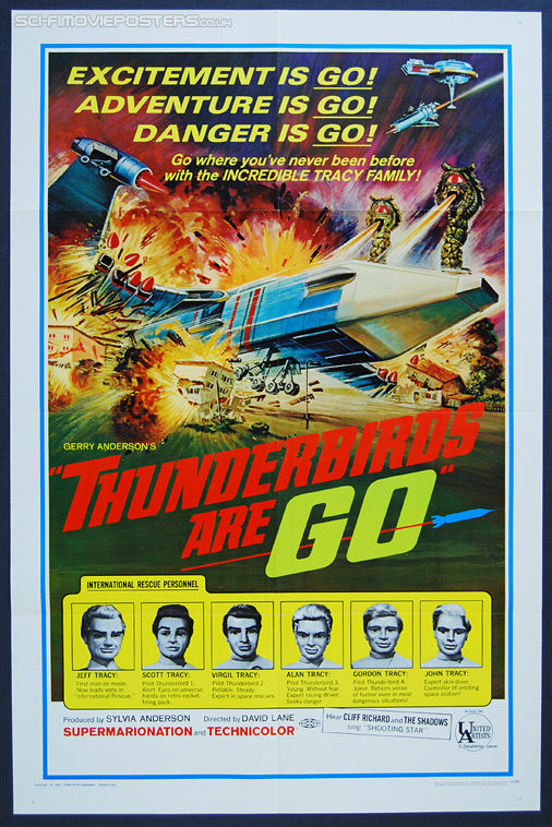 Thunderbirds Are Go (1966) - Original US One Sheet Movie Poster