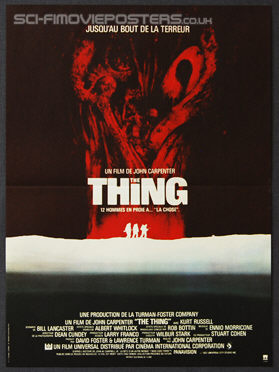 Thing, The (1982) - Original French Movie Poster