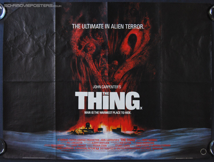 Thing, The (1982) - Original British Quad Movie Poster