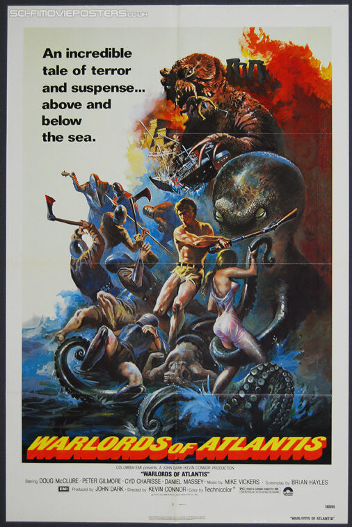 Warlords of Atlantis (1978) - Original US One Sheet Movie Poster