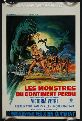 When Dinosaurs Ruled the Earth (1971) - Original Belgian Movie Poster