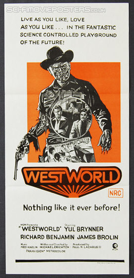 Westworld (1973) - Original Australian Daybill Movie Poster