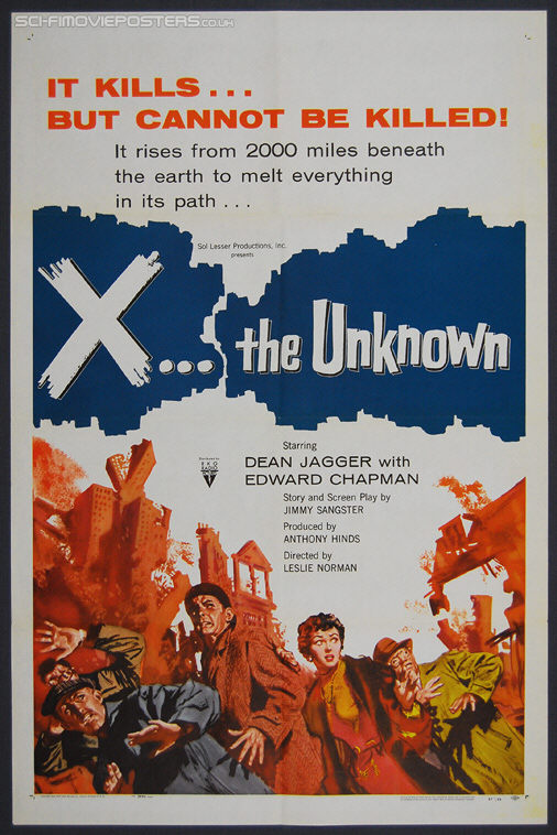 X... The Unknown (1956) - Original US One Sheet Movie Poster