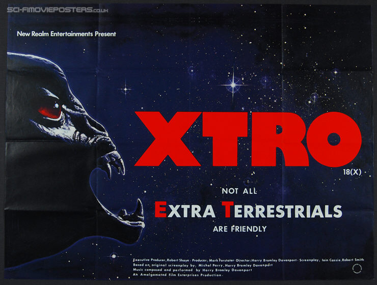Xtro (1983) - Original British Quad Movie Poster