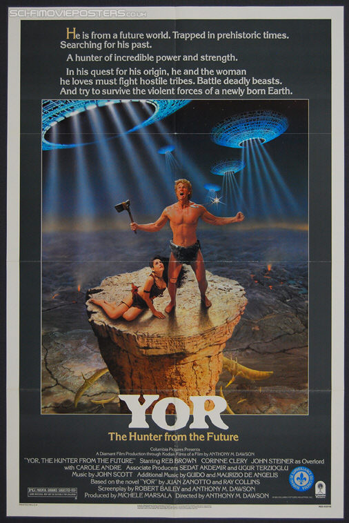 Yor, The Hunter from the Future (1983) - Original US One Sheet Movie Poster